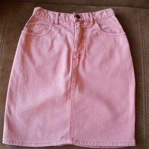 GUESS Vintage Red Denim Skirt
